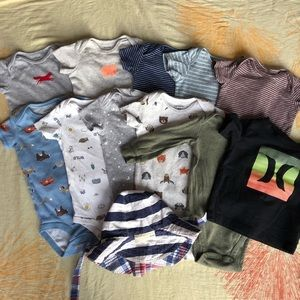 12 Piece Stylish Baby Boy Bundle Size 6-9 Months